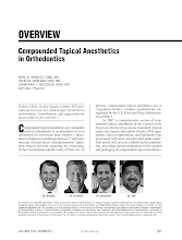 Compounded Topical Anesthetics in Orthodontics