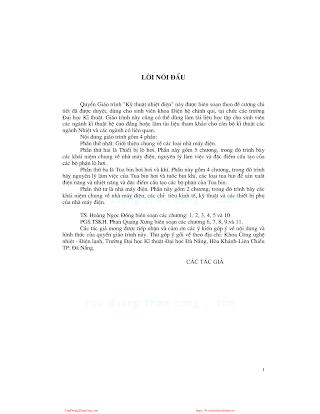 Kỹ Thuật Nhiệt Điện - Phan Quang Xưng, 141 Trang.pdf
