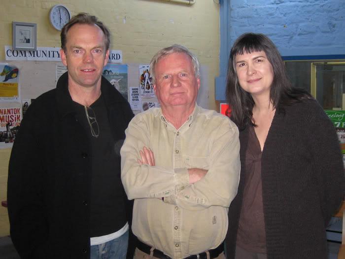 Hugo Weaving and Pamela Rabe with Doug Aiton