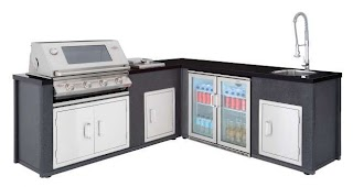 Beefeater Outdoor Kitchen Artisan Corner Layout with Stainless Steel