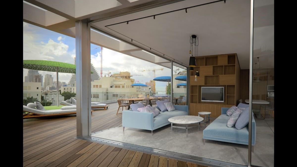 למכירה דירת דופלקס גג חדשה ברחוב בן יהודה בתל אביב