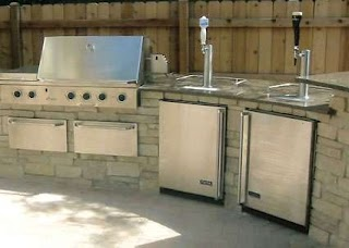 Outdoor Kitchen Kegerator This Memorial Day Bring The to The Bbq Blog