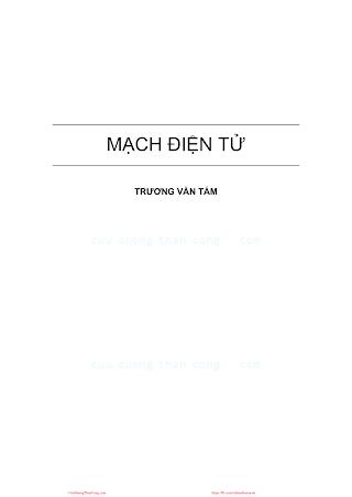 Mạch Điện Tử - Trương Văn Tám, 261 Trang.pdf