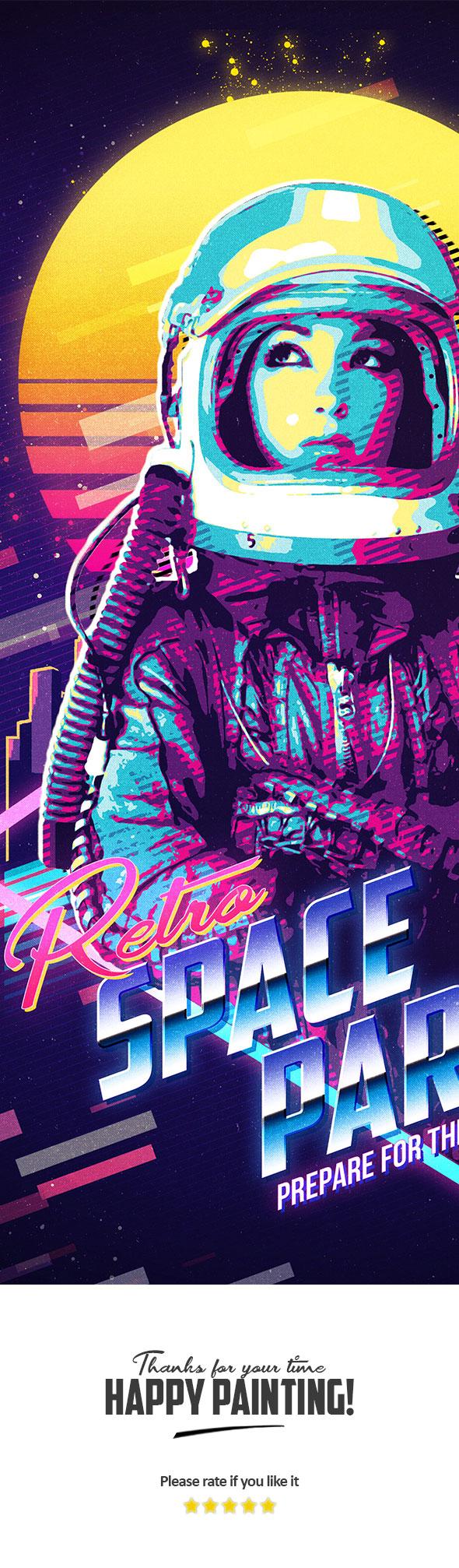 80s retro poster preview 4