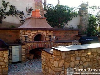 Outdoor Pizza Kitchen Wood Gas Fired Ovens Forno Bravo