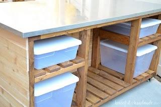 Outdoor Kitchen Island Plans Build Houseful of Handmade