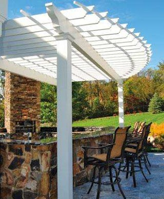 Outdoor Kitchen Canopy Pergolas By Walpole Woodworkers