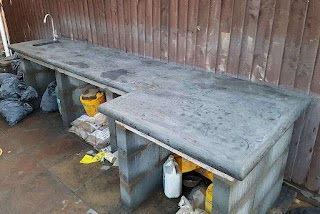 Concrete Outdoor Kitchen Casting Worktop with Curved Edges 17