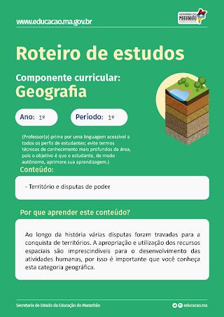 TERRITÓRIO E DISPUTAS DE PODER