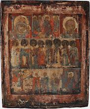 Icoana in trei registre, sec al XVII-lea, Rusia