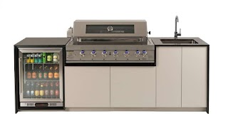 Buy Outdoor Kitchen Riverina with Hooded Bbq Harvey Norman Au