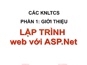 Bài giảng Lập trình web với ASP.pdf