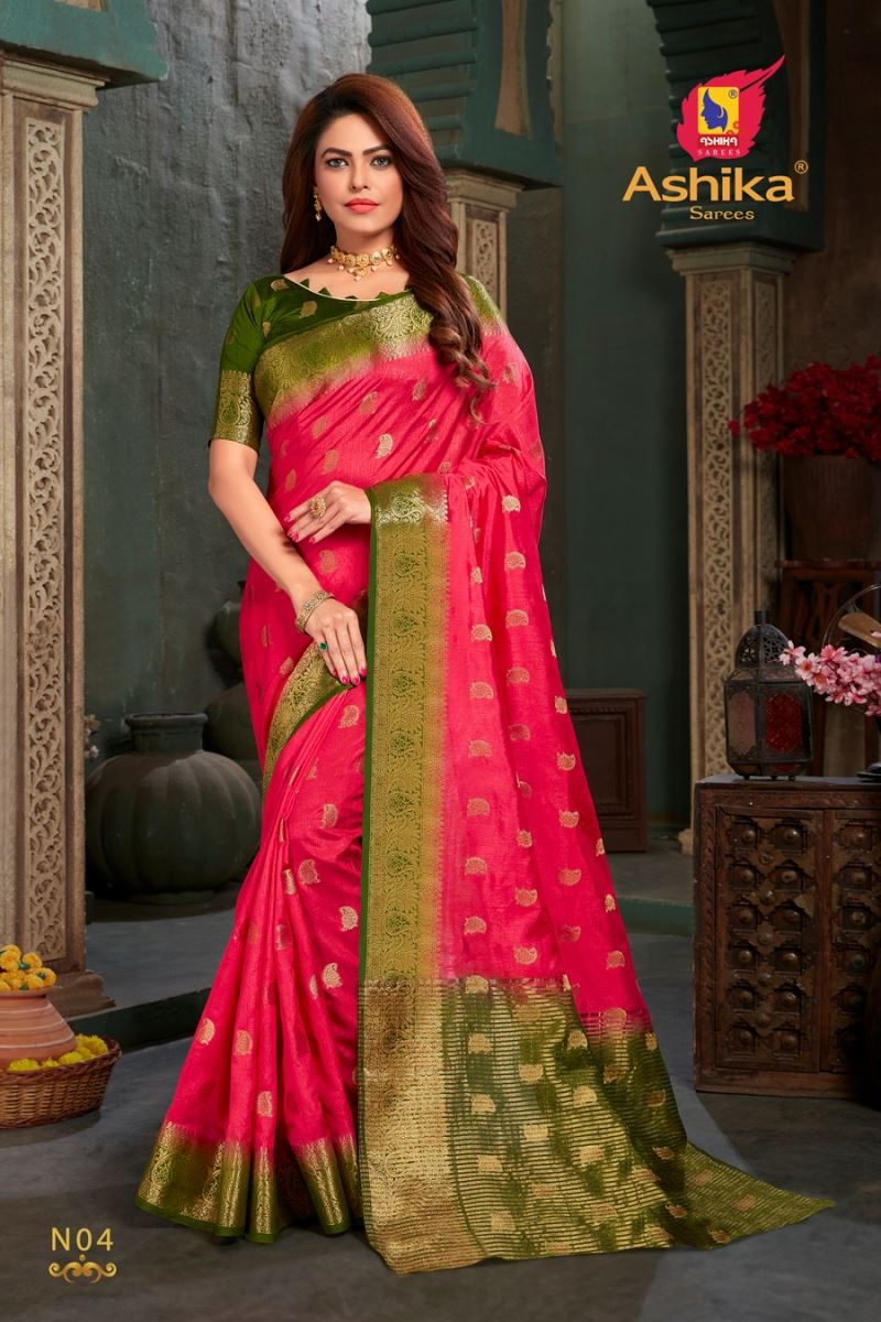 Rani Colour Silk Saree