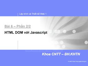 Thiết kế & Lập trình Web 1_HTML DOM VỚI JAVASCRIPT.pdf