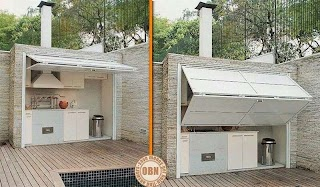 Enclosed Outdoor Kitchens Kitchen Living DIY Kitchen