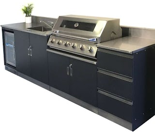 Outdoor Kitchen Bbq with Fridge Schmick Alfresco Setup Barbecue Sink And