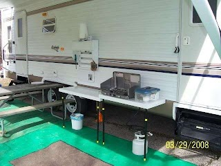 Rv Outdoor Kitchen Ideas He Built an that Mounts to The Side of The Camper