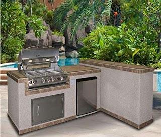Cal Flame Outdoor Kitchen Amazoncom 6 Island 2 Piece E6026 4