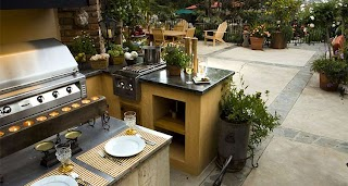 Outdoor Kitchens Florida Flametech Fireplace Grill Kitchen In