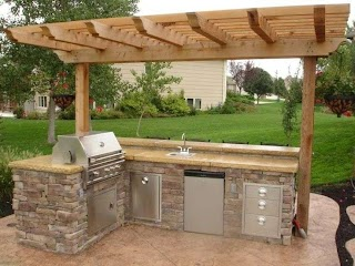 Simple Outdoor Kitchens Small Kitchen Backyard Kitchen in 2019