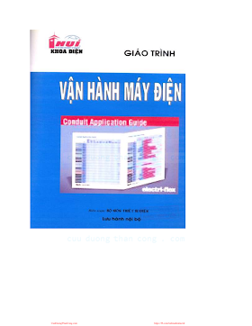 ĐHCN.Giáo Trình Vận Hành Máy Điện - Nhiều Tác Giả, 33 Trang.pdf