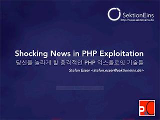 EN - POC2009 Shocking News In PHP Exploitation.pdf