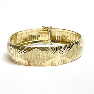 10K Gold Etched Bracelet