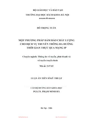 LVDA.Chất Lượng Dịch Vụ Truyền Thông Đa Hướng Thời Gian Thực Qua Mạng Ip - Đỗ Trọng Tuấn, 55 Trang.pdf