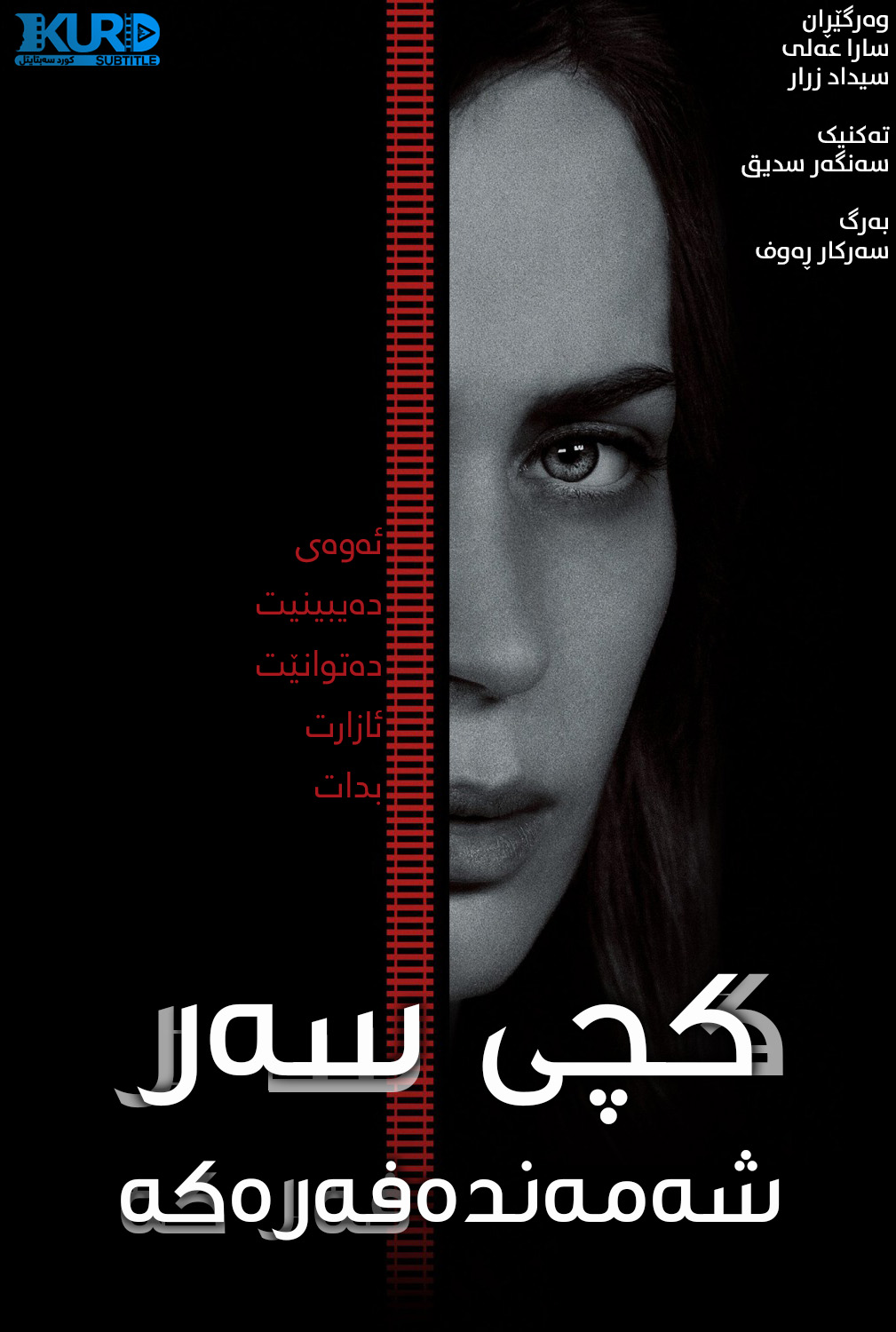 The Girl on the Train kurdish poster