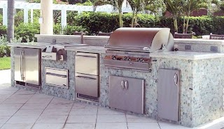 Outdoor Kitchen Bbq with Fridge Ultimate Design Guide Countertop Specialty