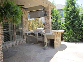 Outdoor Kitchens for Small Spaces Stone Bbq Build in Kitchen in Frisco