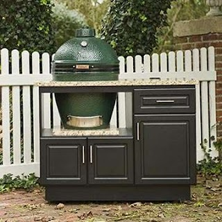 Select Outdoor Kitchens Custom Cabinets for Big Green Egg Gas Grills and Bbq