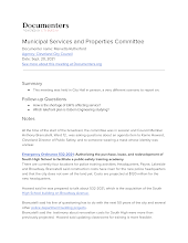 Municipal Services and Properties Committee