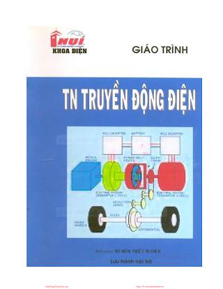 ĐHCN.Giáo Trình Thí Nghiệm Truyền Động Điện - Nhiều Tác Giả, 207 Trang.pdf