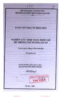 LVDA.Nghiên Cứu Tính Toán Thiết Kế Hệ Thống Cáp Ngầm Cao Áp - Vũ Xuân An, 153 Trang.pdf