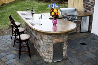 Outdoor Kitchen Counters Countertops Landscaping Network