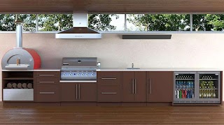 Outdoor Bbq Kitchen Cabinets Weatherproof From Viteo