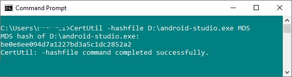 MD5 checksum Windows 10