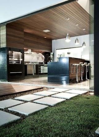 Indoor Outdoor Kitchen Ideas 40 Beautiful Designs Backyard Modern