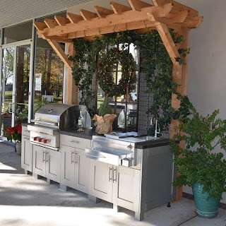 Outdoor Kitchen Showroom Deck The Tables Bath Concepts