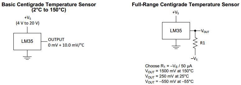 Mạch cảm biến nhiệt độ LM35