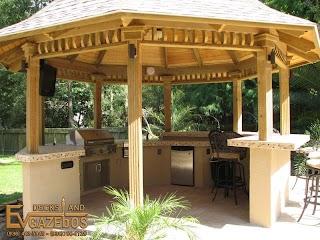 Outdoor Kitchen Gazebo S Fireplaces Ev Decks S