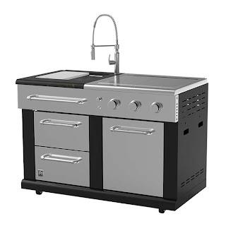 Master Forge Outdoor Kitchen Modular Sink and Side Burners 36000 Btu Bg179cl