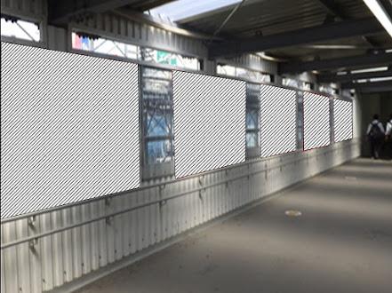 渋谷駅中央改札外東側連絡通路壁面パネル