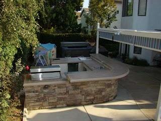 Diy Cinder Block Outdoor Kitchen S Steel Studs Or Concrete S Yard Ideas Blog