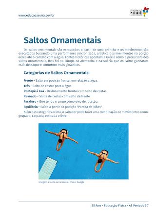 SALTOS ORNAMENTAIS – CATEGORIAS DE SALTOS