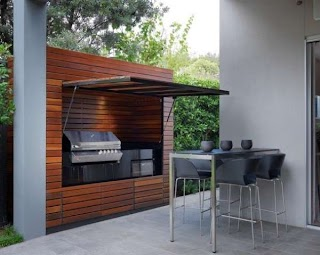 Outdoor Kitchen Small Space Acaal