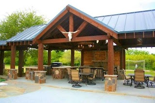 Outdoor Kitchen Pavilion and Fireplace