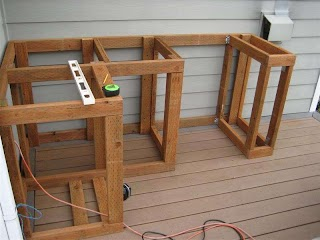 Build Outdoor Kitchen Frame How to Cabinets