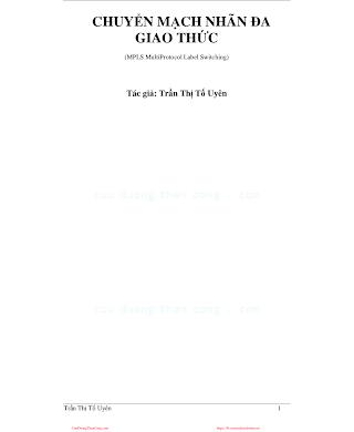 Chuyển Mạch Nhãn Đa Giao Thức - Trần Thị Tố Uyên, 147 Trang.pdf